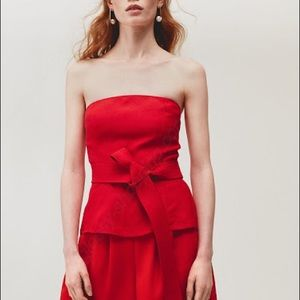 Wilfred/Aritzia Red Tied Top